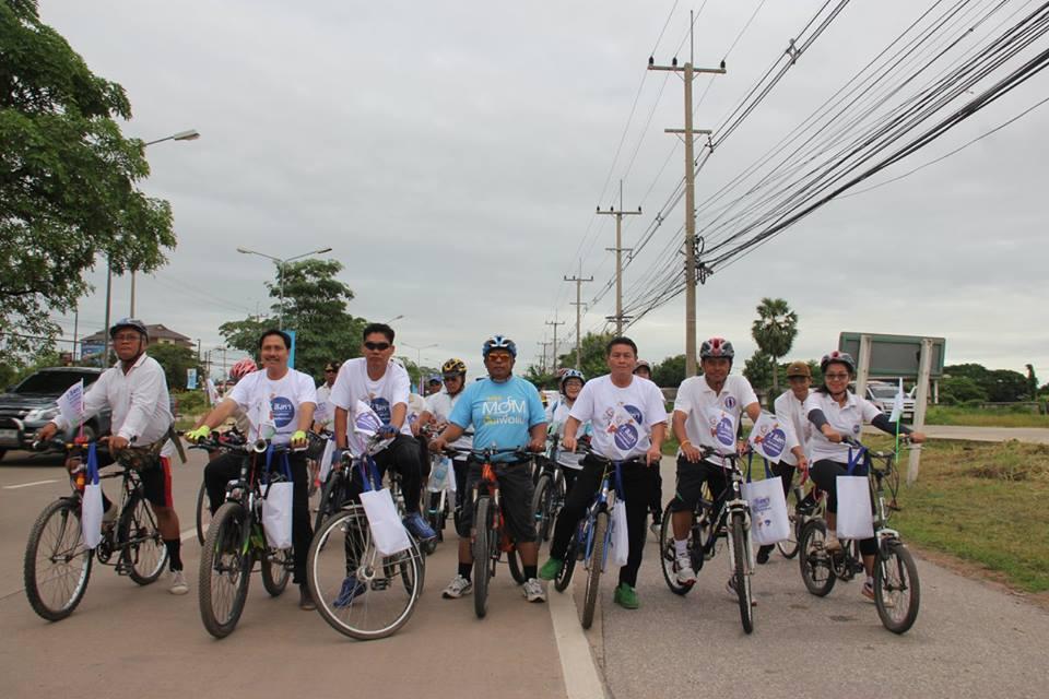 ปั่นจักรยานรณรงค์ในวันรณรงค์ Big Day