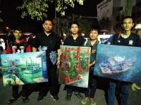 """นักศึกษาสาขาทัศนศิลป์รับรางวัลการประกวดวาดภาพ """"บางแสน สร้างศิลป์"""" ครั้งที่ 1 ประจำปี 2560 จ.ชลบุรี"""