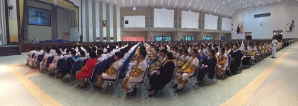 พิธีซ้อมใหญ่พิธีพระราชทานปริญญาบัตร ประจำปีการศึกษา 2558