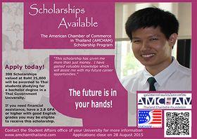 รูปภาพ : มูลนิธิหอการค้าอเมริกันในประเทศไทย (ATCF) เปิดรับใบสมัครเพื่อรับทุนการศึกษาสำหรับปีการศึกษา 2559-2560