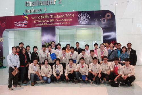 Rajamangala University of Technology Lanna (RMUTL) are victorious at World Skills Thailand 2014