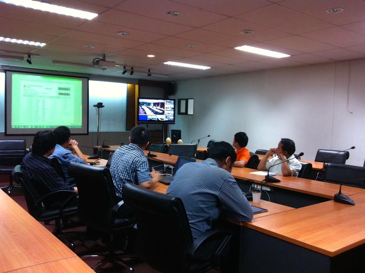 คณะทำงานฯ 6 พื้นที่ ประชุม conference ถึงความคืบหน้าฯ ระบบทะเบียนกลาง มหาวิทยาลัยฯ