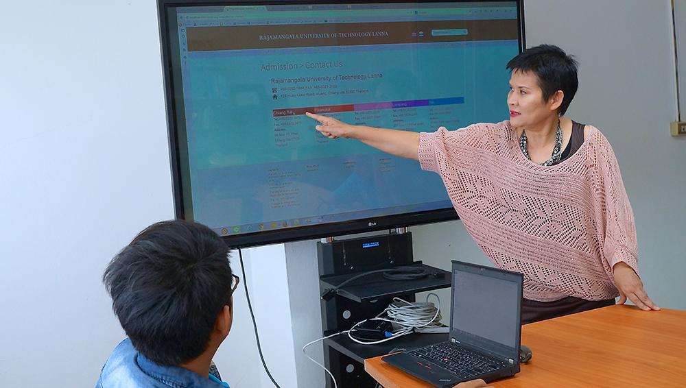 ดร.อรนุตฎฐ์ รอง.ผอ.วิทยบริการฯ พัฒนาระบบ Website กลางของมหาวิทยาลัยฯ