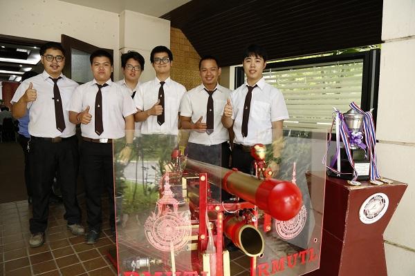 นักศึกษาราชมงคลล้านนาคว้าแชมป์หุ่นยนต์เสือปืนไว ครองถ้วยพระราชทานสมเด็จพระเทพฯ