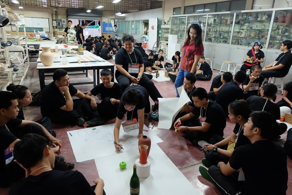 การเรียนปรับพื้นฐานวิชาชีพ สำหรับนักศึกษาใหม่คณะศิลปกรรมและสถาปัตยกรรมศาสตร์ ประจำปีการศึกษา 2559 ในกิจกรรม STEM CAM