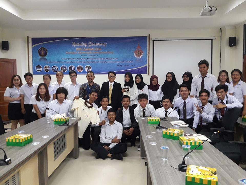 โครงการแลกเปลี่ยนนักศึกษารูปแบบการเรียนการสอนร่วมระหว่าง Brawijaya-RMUTL International Class Program ; BRIC Program
