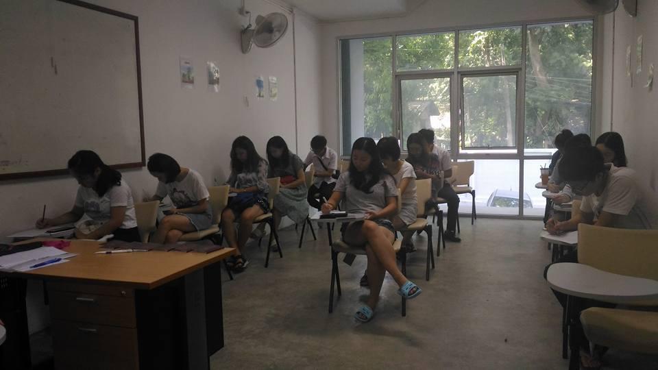 Meeting with exchange students