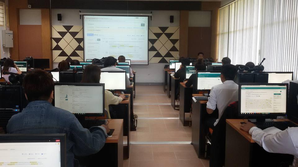 งานวิทยบริการฯ (ห้องสมุด) จัดอบรมการใช้งานฐานข้อมูลวิจัย