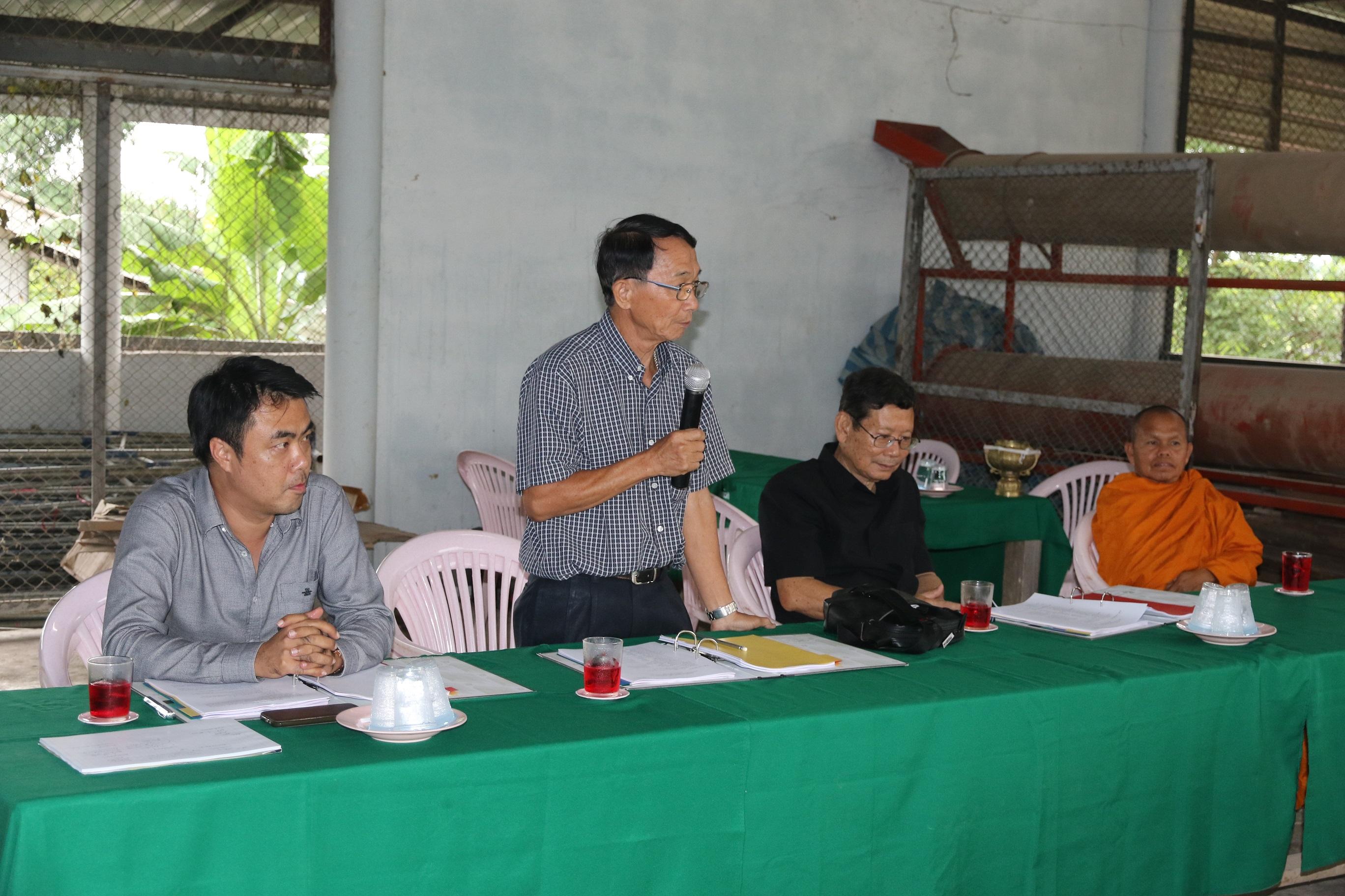 ติดตามความก้าวหน้าการดำเนินงานโครงการยกระดับคุณภาพชีวิตของหมู่บ้าน ชุมชน แบบมีส่วนร่วม ประจำปีงบประมาณ 2560 กรณีหมู่บ้านแม่กาษาโพธิ์เงิน หมู่ 14 ต.แม่กาษา อ.แม่สอด จ.ตาก