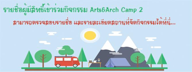 กิจกรรม Arts&Arch Camp 2