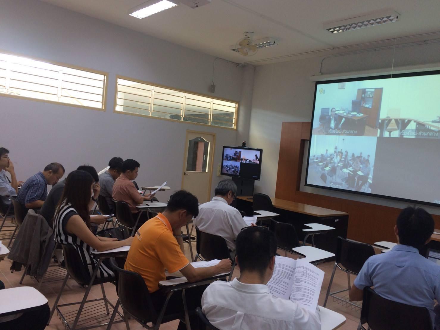 อาจารย์สาขาวิศวกรรมไฟฟ้าและสาขาวิศวกรรมและเทคโนโลยี ประชุมเพื่อกำหนดวิธีการคัดเลือกหัวหน้าสาขา