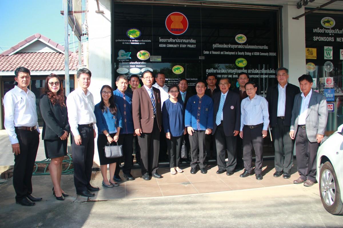 ผศ.ประพัฒน์ เชื้อไทย รักษาราชการแทนอธิการบดี เข้าพบ พลเอก ดร.ศิริ ทิวะพันธุ์