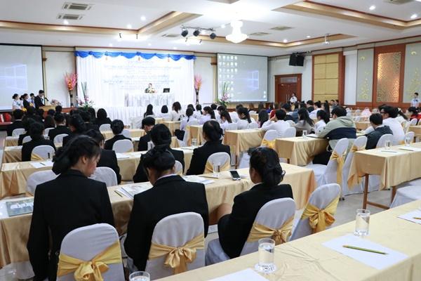 นศ.การจัดการ จัดโครงการสัมมนาทางวิชาการเรื่อง การพัฒนาผลิตภัณฑ์เพื่อสร้างความมั่นคงและความได้เปรียบทางการค้าในยุค Thailand 4.0