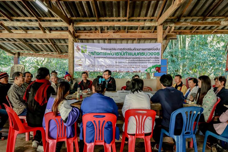 ทีมวิจัย coffee project 61 ราชมงคลลำปาง ลงพื้นที่เก็บข้อมูลเพื่อจัดอบรมแผนพัฒนาการท่องเที่ยวแม่แจ๋ม