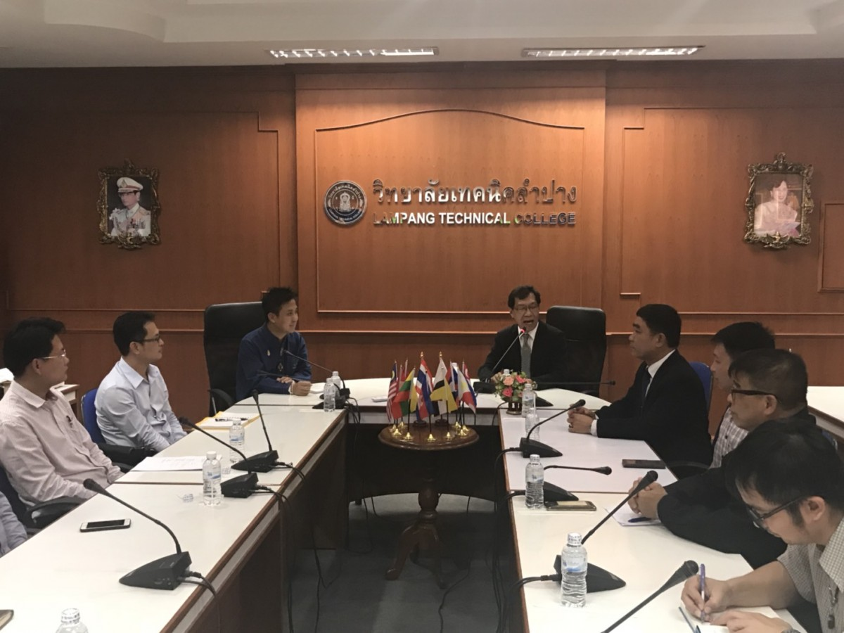 RMUTL discussed with Lampang Technical College (LTC) and drove to the University's strategic, improving human to country development.