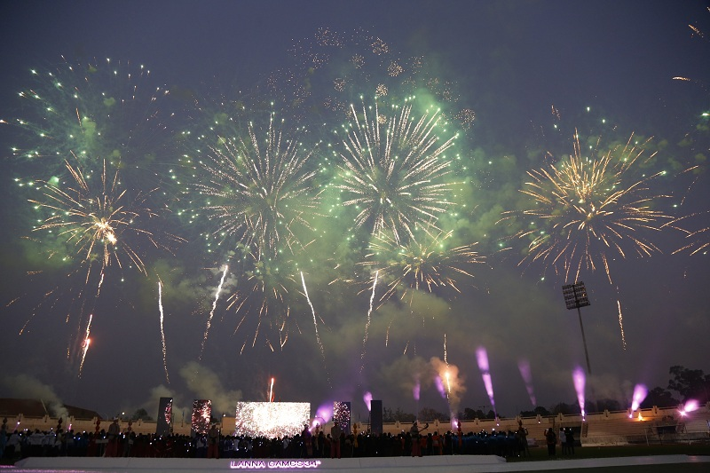 พิธีเปิดการแข่งขันกีฬามหาวิทยาลัยเทคโนโลยีราชมงคลแห่งประเทศไทย ครั้งที่ 34
