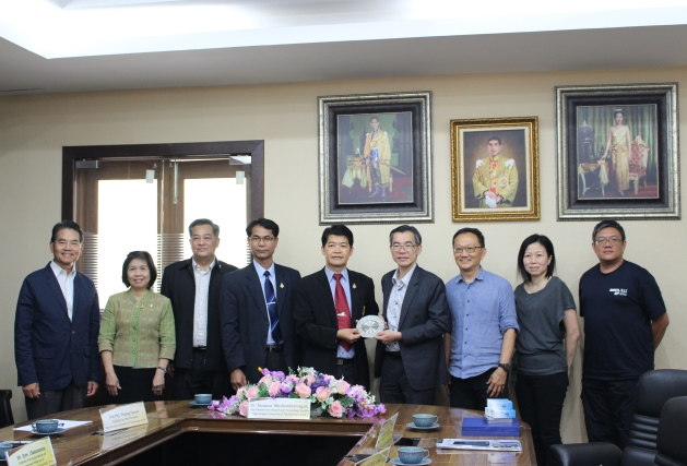 The project meeting with representatives from Singapore Polytechnic