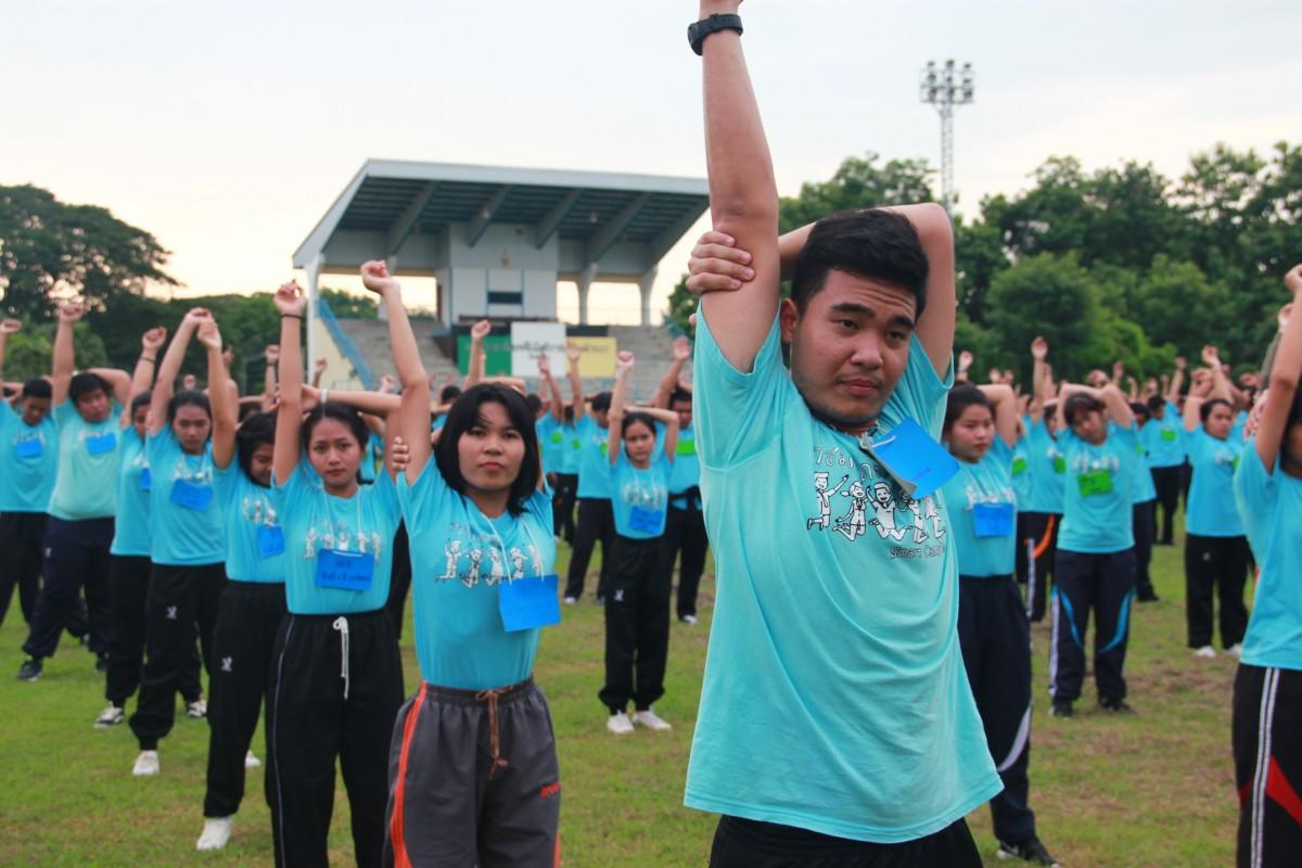 กิจกรรมออกกำลังกาย ส่งเสริมภาพนักศึกษาใหม่2561