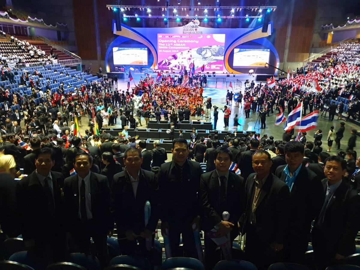 คณาจารย์และนักศึกษา มทร.ล้านนา ร่วมการแข่งขันฝีมือแรงงานอาเซียนครั้งที่ 12 (World skills ASEAN BANGKOK 2018)
