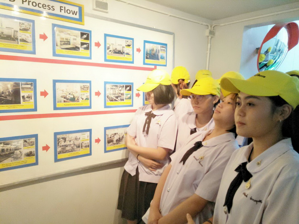 หลักสูตรเตรียมบริหารธุรกิจ วิทยาลัยฯ นำนักศึกษาดูงานนอกห้องเรียน ที่ บริษัท ฟูจิคูระประเทศไทย จำกัด นิคมอุตสาหกรรม จังหวัดลำพูน