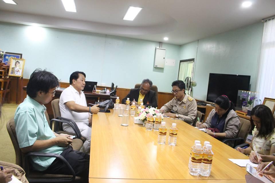 ประชุมหารือร่วมกับผู้อำนวยการสถาบันค้นคว้าและพัฒนาผลิตภัณฑ์อาหาร มหาวิทบาลัยเกษตรศาสตร์