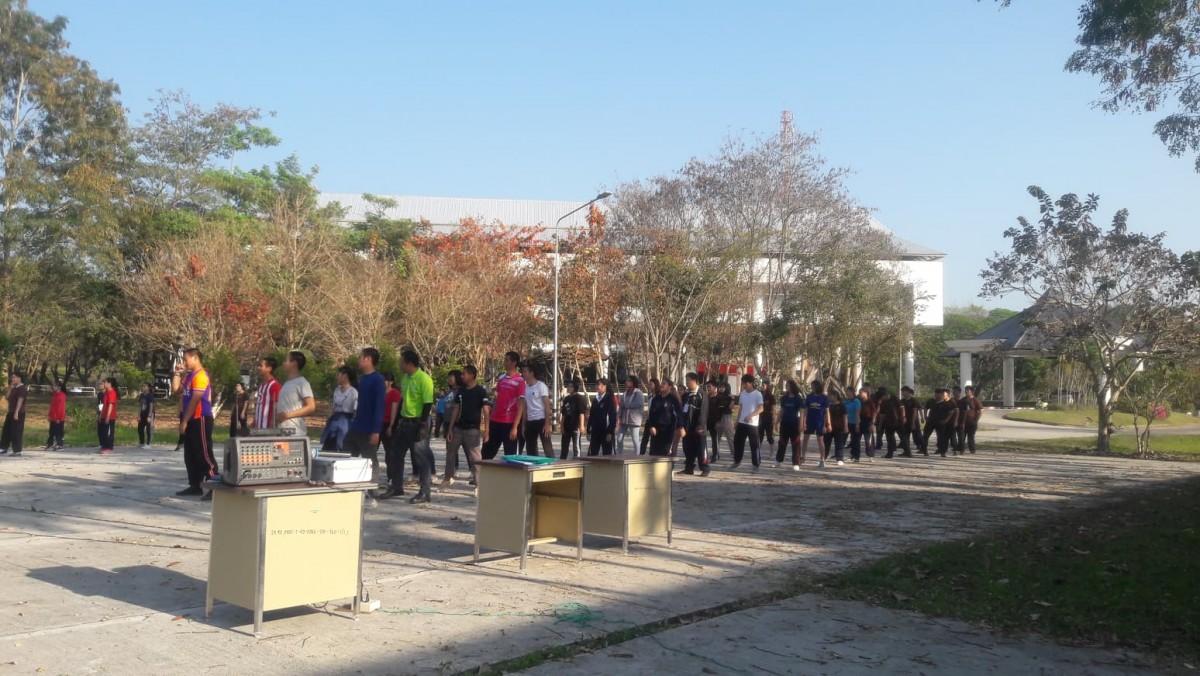 ภาพกิจกรรมโครงการออกกำลังการเพื่อสุขภาพด้วยการเต้นแอโรบิค ทุกวันพุธ (20 กุมภาพันธ์ 2562)