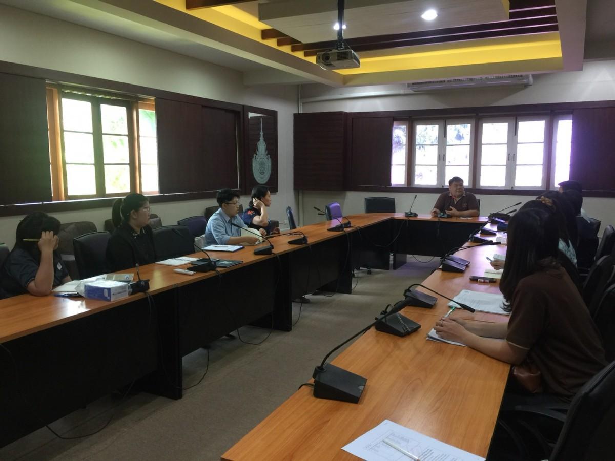 ประชุมติดตามผลการดำเนินงานการประกันคุณภาพการศึกษาและการบริหารความเสี่ยง ระดับคณะ