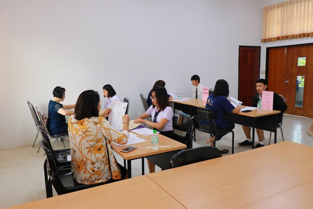 ภาพบรรยากาศการสอบสัมภาษณ์นักศึกษาใหม่ รอบ TCAS 2 ประจำปีการศึกษา 2562