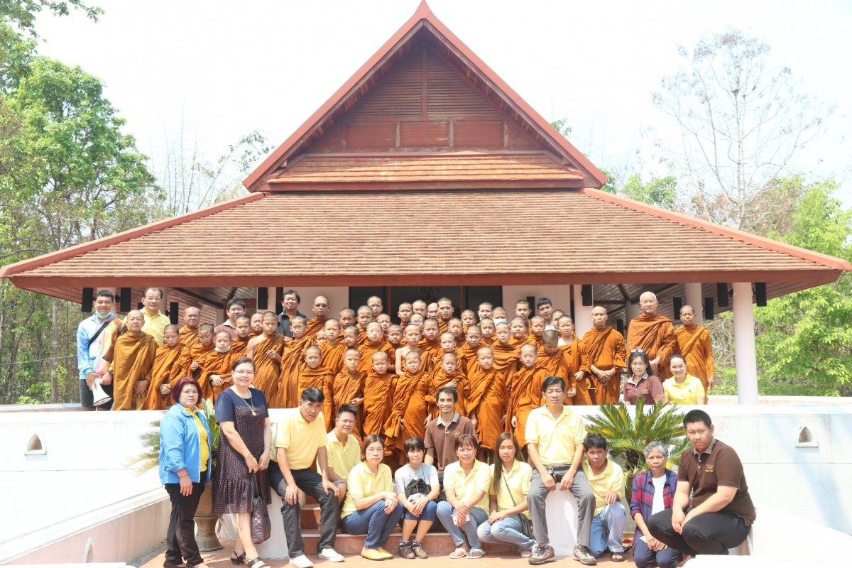 "RMUTL Community Technology Transfer Center welcomed Novices in ""5th Lukkaew Anurak Thin Thai 2019"" project from Tham Klab Temple"