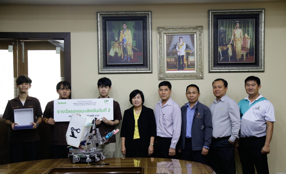 KSR Lanna Team got 2nd runner-up in iROBOT Create – The Next Chapter of Living