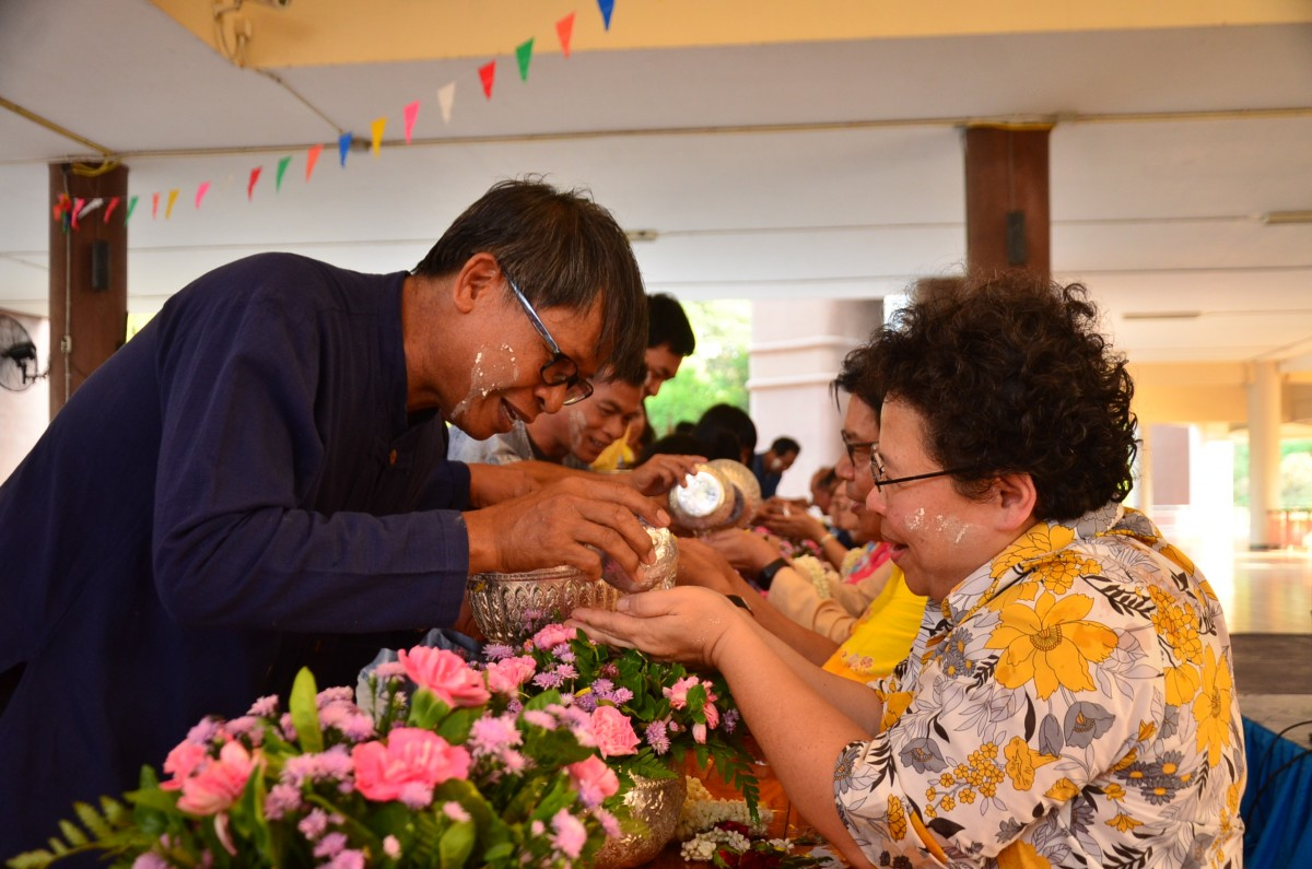Pouring water on the hands of revered lecturers and senior personnel and ask for blessing annual year 2019