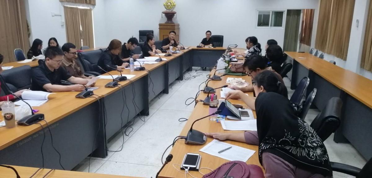งานวิชาการ จัดการประชุมคณะกรรมการจัดทำตารางสอนตารางสอบ ประจำปีการศึกษา 2562