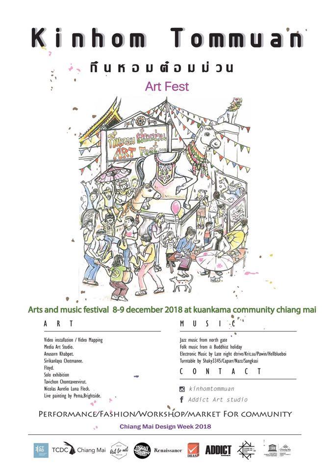 นักศึกษาสื่อศิลปะ หลักสูตรทัศนศิลป์ เข้าร่วมงาน กิ๋นหอมต๋อมม่วน Art Fest