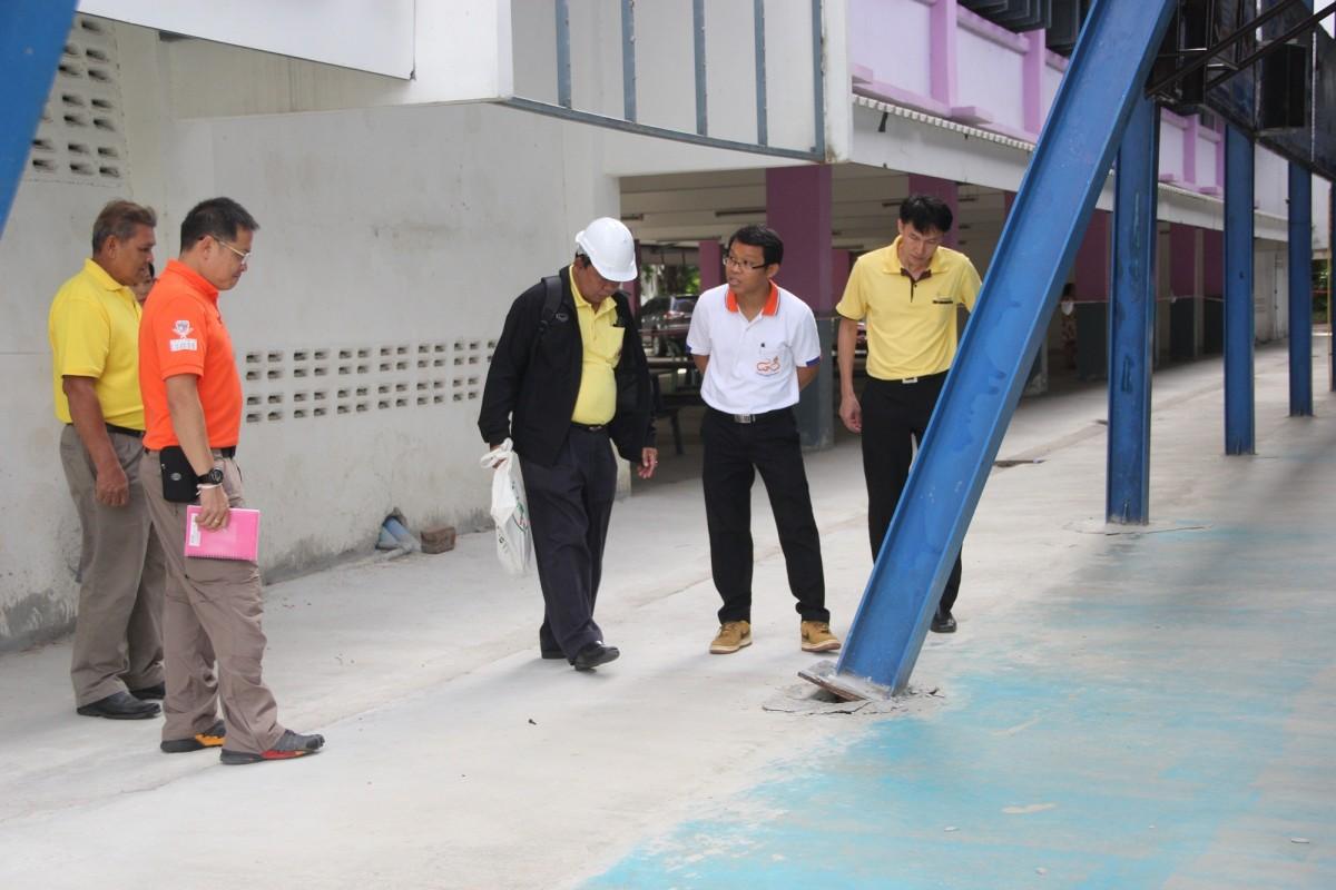มทร.ล้านนา ตาก ร่วมตรวจสอบมาตรฐานการก่อสร้างกรณีพายุพัดถล่มโดมอเนกประสงค์โรงเรียนผดุงปัญญา