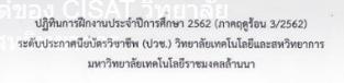 ปฏิทินฝึกงาน ประจำปี 2562 ระดับประกาศนียบัตรวิชาชีพ (ปวช.)