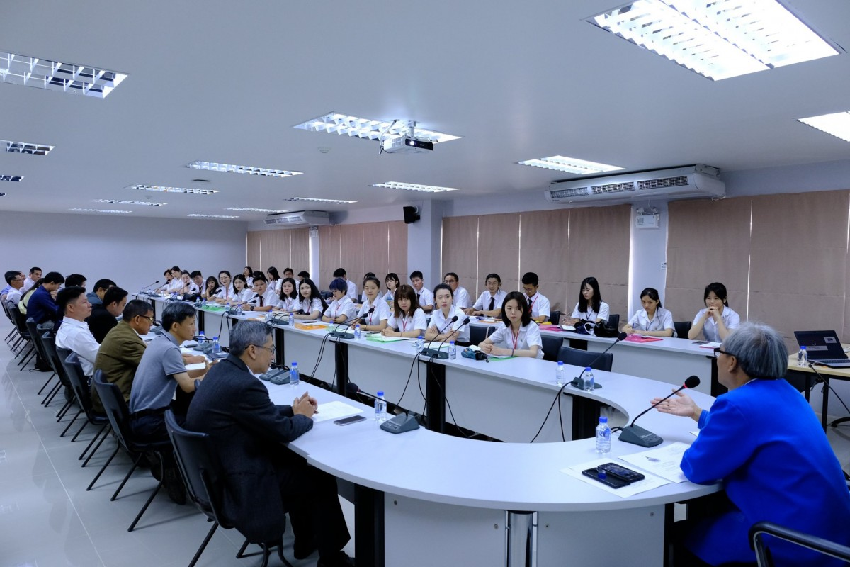 An orientation of exchange students from Guangxi Normal University (GNXU), People's Republic of China.