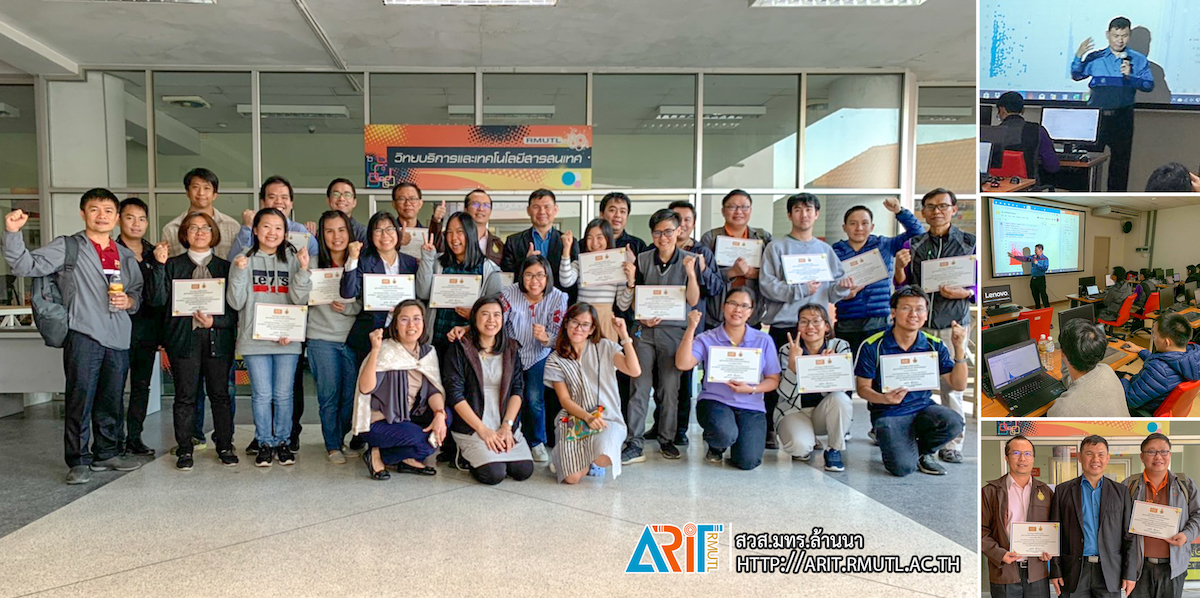 Artificial Intelligence Association of Thailand (AIAT) together with Office of Academic Resource and Information Technology, Rajamangala University of Technology (ARIT) organized workshop