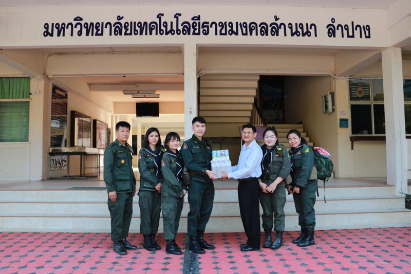 ผู้ช่วยอธิการบดี ให้โอวาทนักศึกษาวิชาทหาร ในโอกาสเข้าร่วมฝึกภาคสนาม