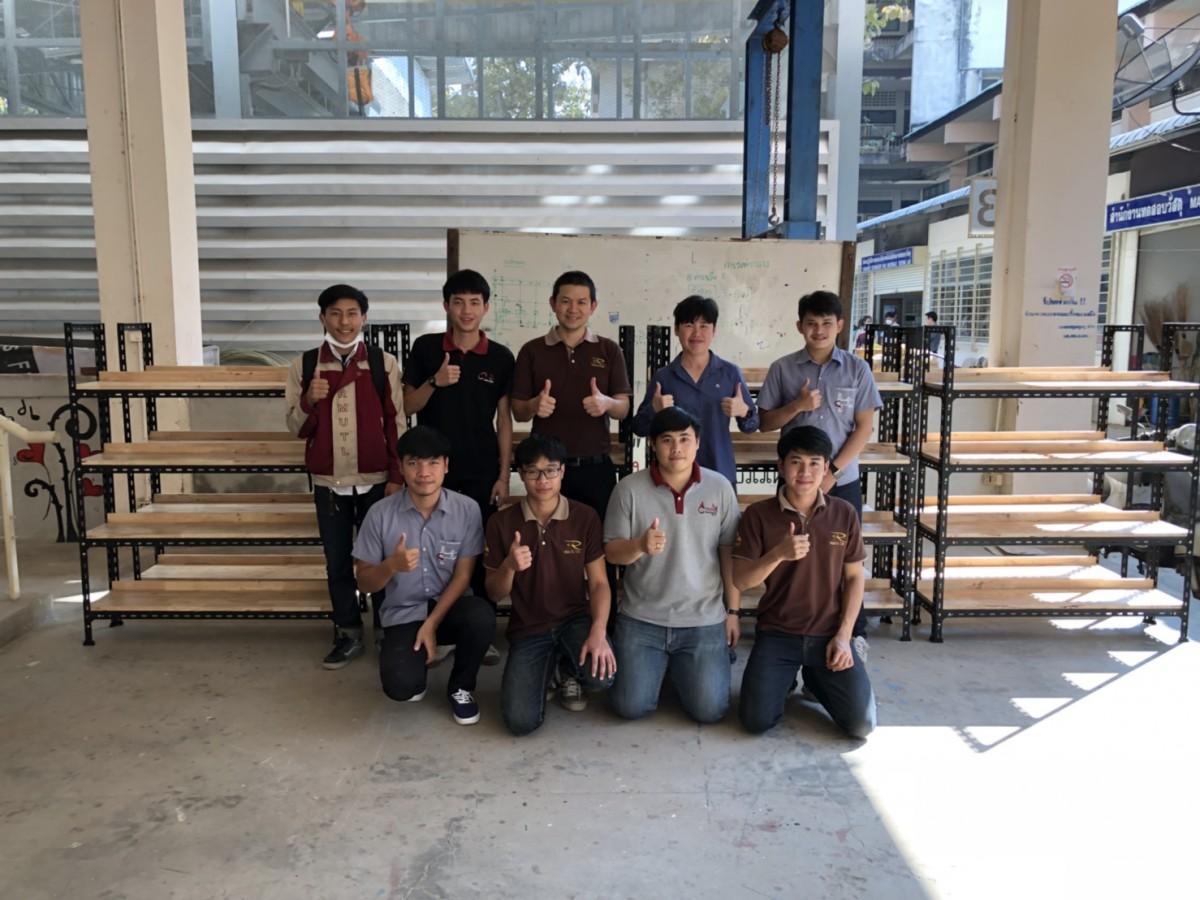 โครงการปรับปรุงห้องเรียน (จัดทำชั้นวางหนังสือ) โดยเน้นการมีส่วนร่วมและพัฒนาทักษะฝีมือของนักศึกษา หลักสูตรวิศวกรรมโยธา มทร.ล้านนา เชียงใหม่