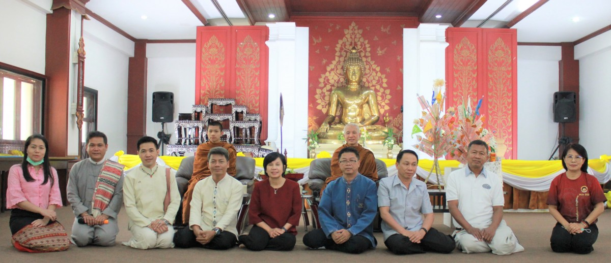 Rajamangala University of Technology Lanna offer the robes and contribute the 6th Anurakthinthai novice ordination 2020