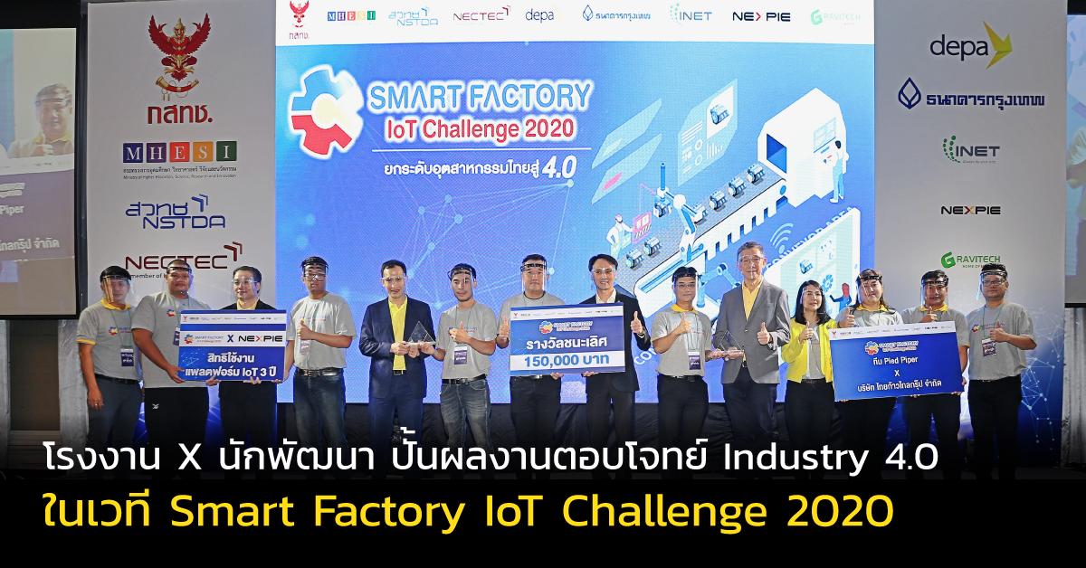 อ.บุญญฤทธิ์ วังงอน คณะวิศวกรรมศาสตร์ มทร.ล้านนา พิษณุโลก คว้ารางวัลชนะเลิศ โครงการแข่งขัน Smart Factory IoT Challenge 2020