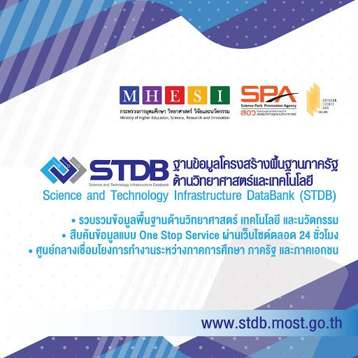ขอเชิญชวนร่วมใช้งานฐานข้อมูลโครงสร้างพื้นฐานภาครัฐด้านวิทยาศาสตร์และเทคโนโลยี (STDB)