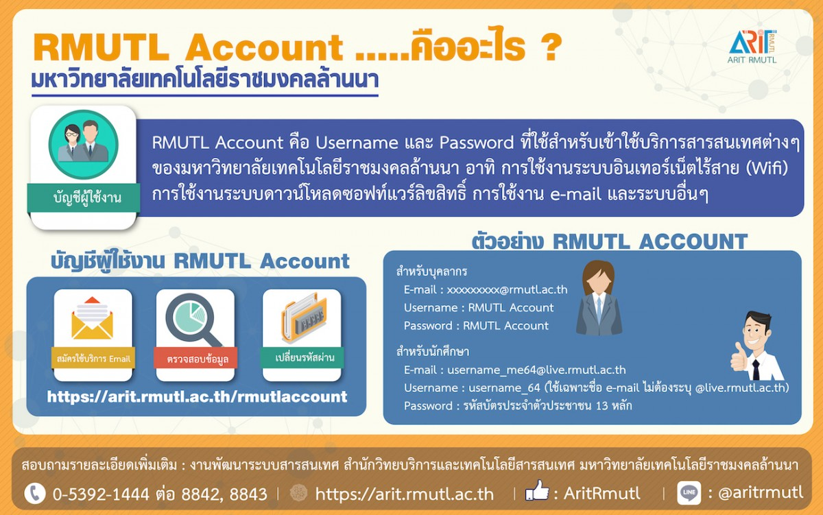 Did you know... : RMUTL Account...คืออะไร ?
