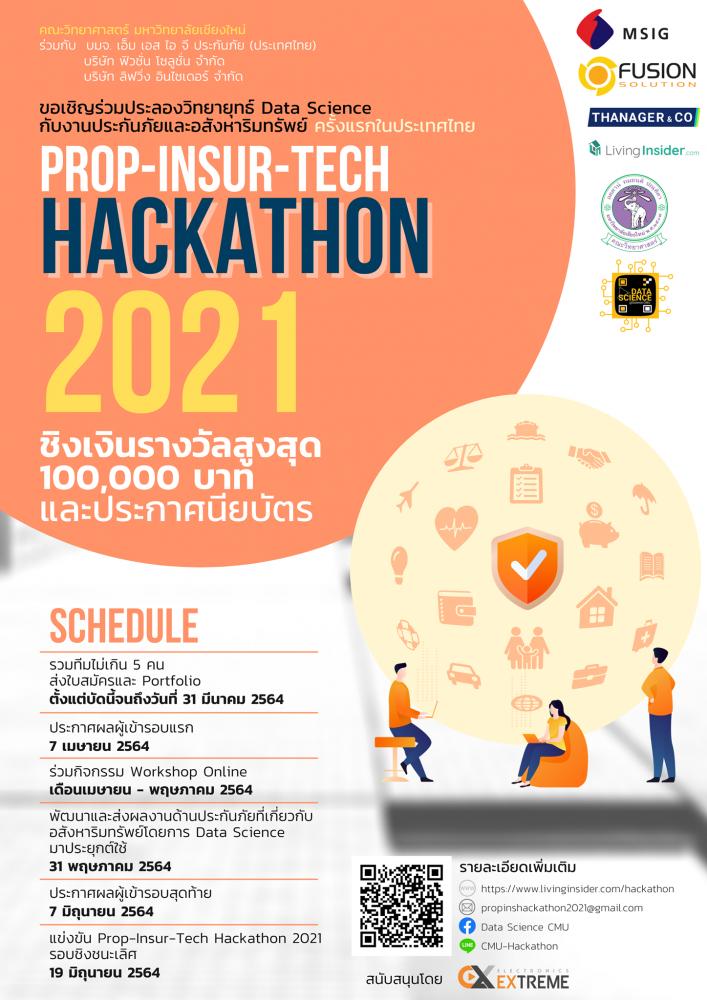 ประชาสัมพันธ์การแข่งขัน Prop Insur Tech Hackathon 2021