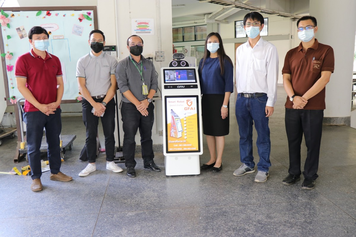 มทร.ล้านนา เชียงราย รับมอบหุ่นยนต์อัจฉริยะสแกนวัดอุณหภูมิ จากบริษัท การ์ดฟอร์ซ เอไอ กรุ๊ป จำกัด เพื่อทดลองใช้งาน