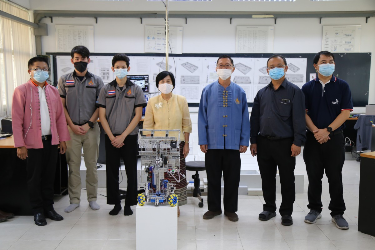 2 นักศึกษา วิศวกรรมศาสตร์ มทร.ล้านนา ร่วมการแข่งขันรายการ Mobile Robotics Skills Challenge Thailand 2021