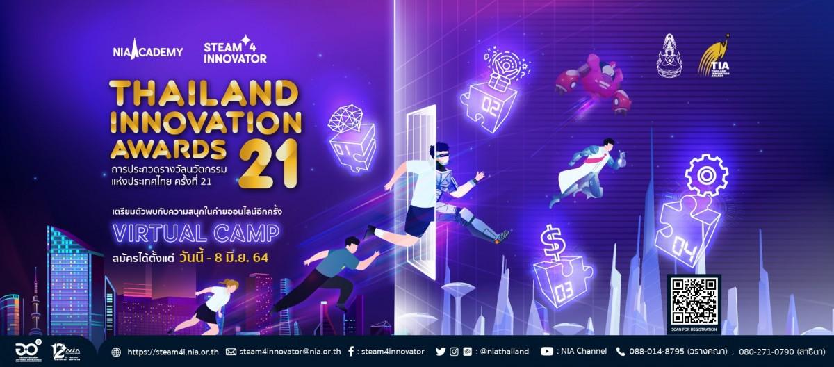 สำนักงานนวัตกรรมแห่งชาติ NIA ประชาสัมพันธ์โครงการ การประกวดรางวัลนวัตกรรมแห่งประเทศไทย ครั้งที่ 21 Thailand Innovation Awards 2021 (TIA)