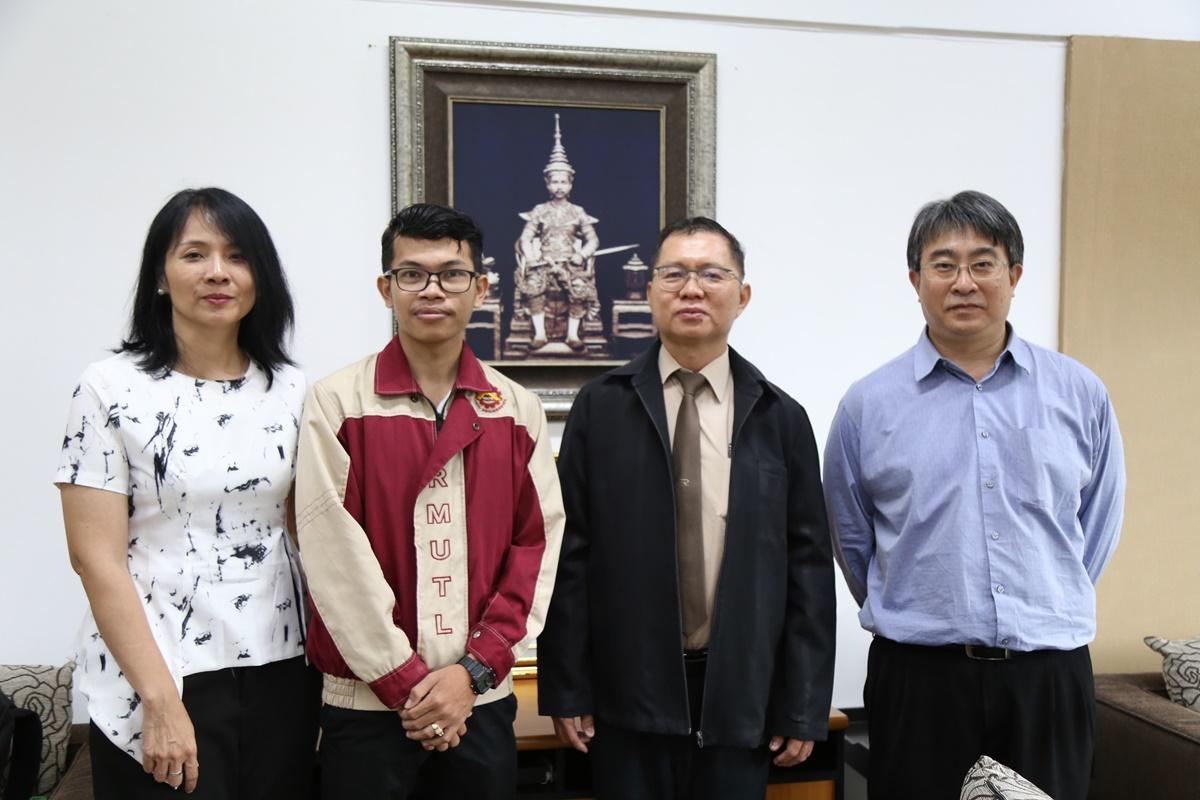 นักศึกษาแลกเปลี่ยนกัมพูชา เข้าพบผู้บริหารมหาวิทยาลัย ภายหลังสำเร็จการศึกษาระดับปริญญาตรี