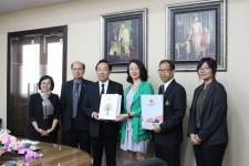 กาประชุมร่วมกับผู้แทนจาก Changchun University สาธารณรัฐประชาชนจีน