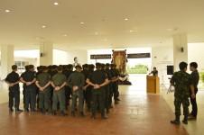 ตัวแทนจากศูนย์การฝึกนักศึกษาวิชาทหาร มณฑลทหารบกที่ 33 เข้าเยี่ยมชมงานนักศึกษาวิชาทหาร วิทยาลัยเทคโนโลยีและสหวิทยาการ